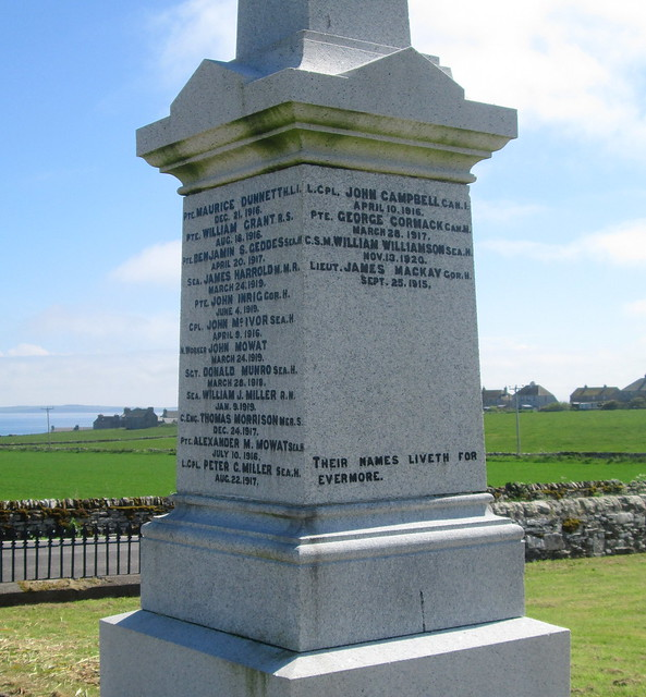 Keiss War Memorial Names