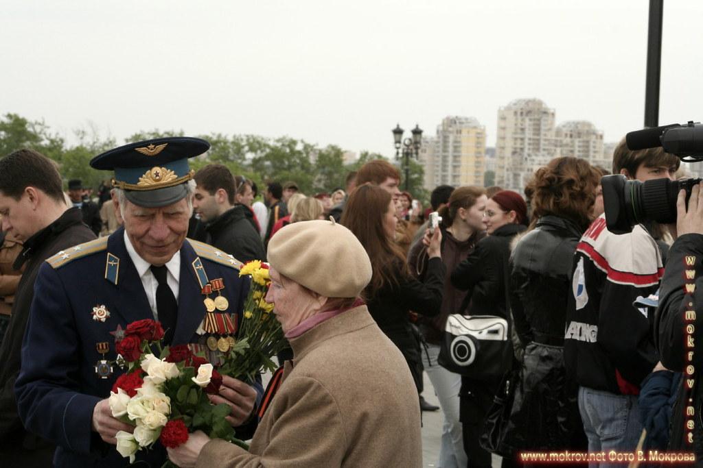 Встреча ветеранов ВОВ, 9 мая 2008 Поклонная гора г.Москва