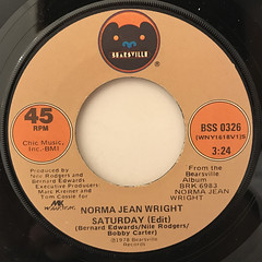 NORMA JEAN WRIGHT:SATURDAY(LABEL SIDE-A)