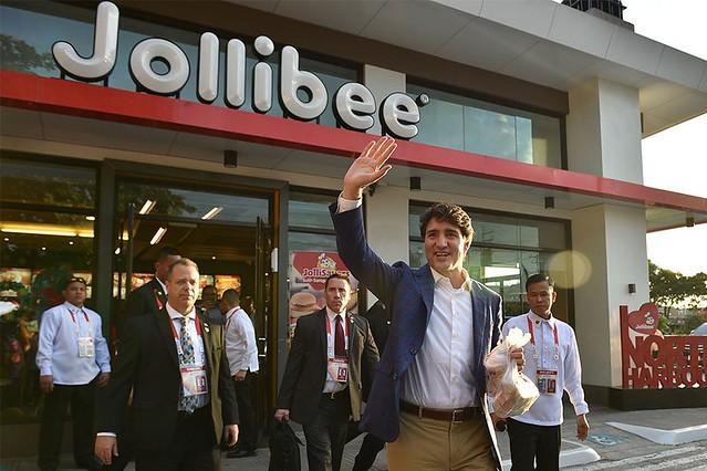 Trudeau at Jollibee