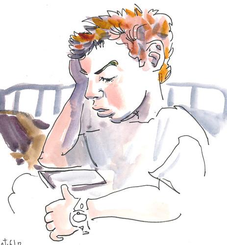 Sketchbook #108: Reading
