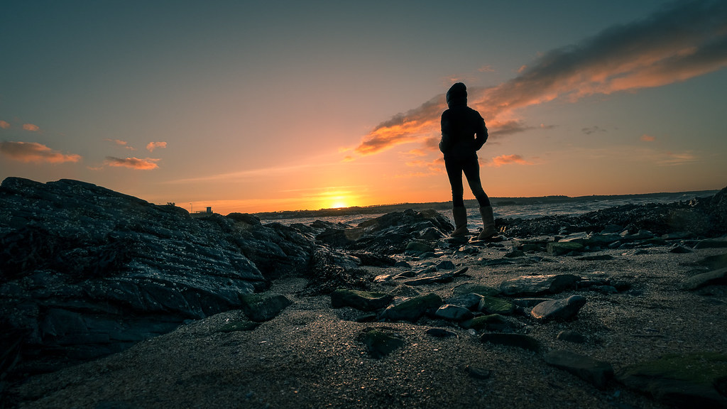 Staring at sunset, Skerries, Ireland picture