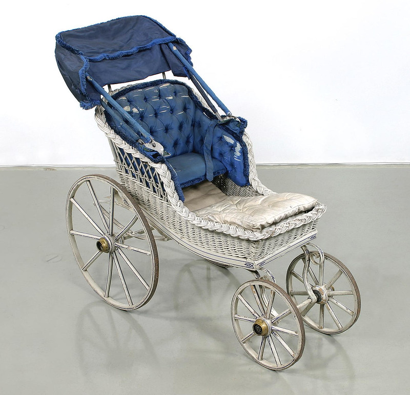 Pram design in manufacture from around from 1882 until 1919. Credit Livrustkammaren (The Royal Armoury), Samuel Uhrdin
