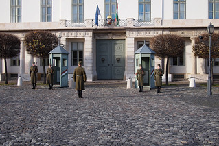 Budapest change of guards at the castle