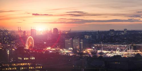 city sunset fair