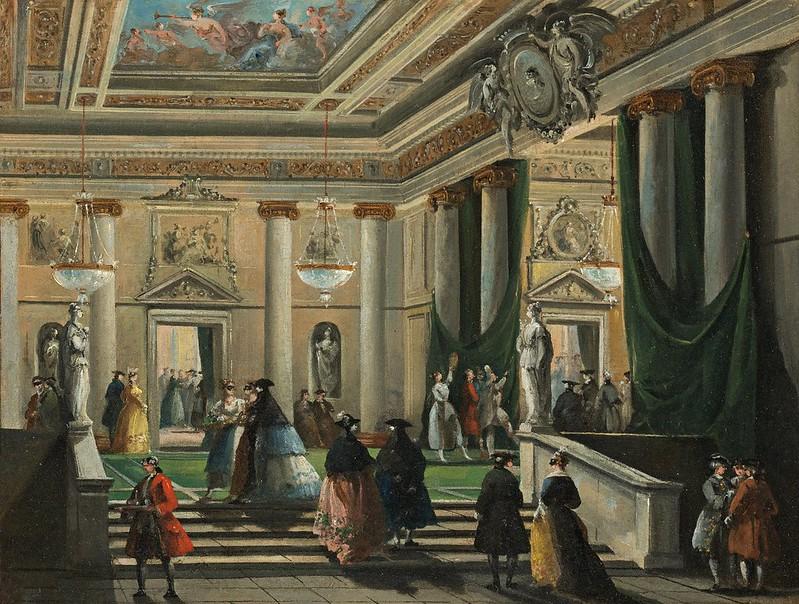 Giuseppe Bernardino Bison - A scene from the last days of Pompeii performed in la Fenice theater