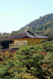 Изображение на Kinkaku-ji (Golden Pavilion Temple) близо до Kamigyō-ku. 金閣寺 京都市 日本 鹿苑寺 rokuonji goldenpavilion pagoda zen buddhism temple buddhisttemple mainhall kondō 金堂