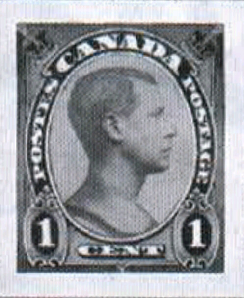 Canada 1-cent essay for unissued Edward VIII stamp with right-facing portrait