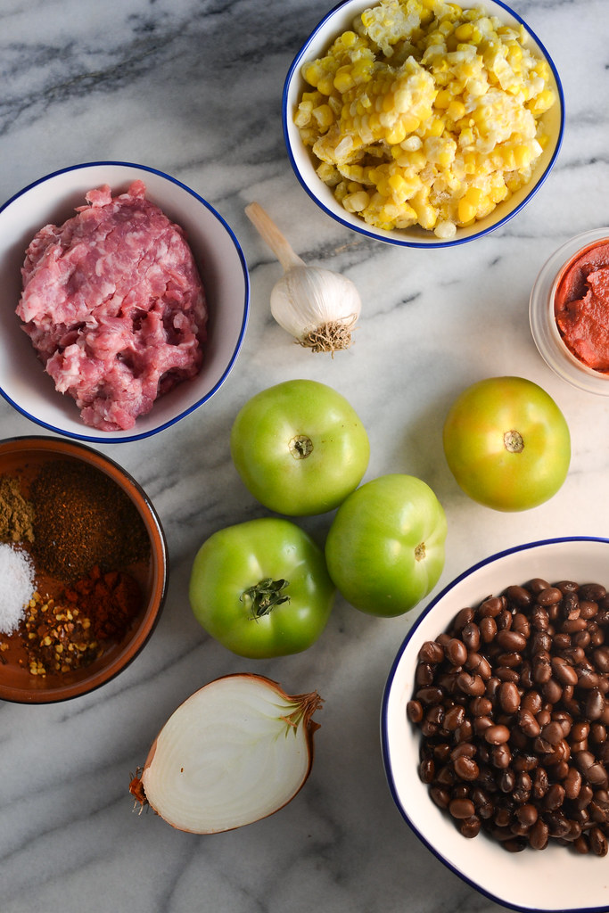 Green Tomato, Black Bean, and Corn Chili | Things I Made Today