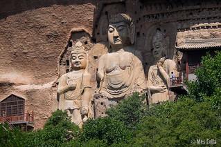 la Ruta de la Seda per Xina coves de Maiji Shan