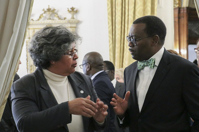 Diretora-Geral recebe Presidente do Banco Africano de Desenvolvimento