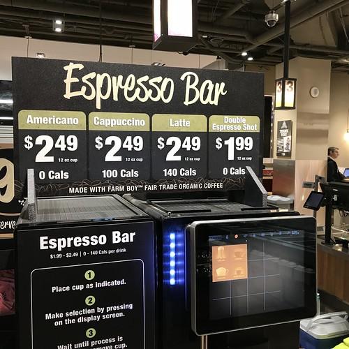 Coffee at the New Farm Boy in Ottawa, Rideau Centre