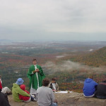 mass with an angels view
