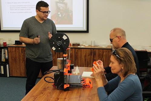 Petr Dušek, lektor workshopu o 3D tisku