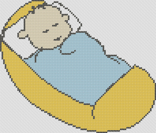 Preview of Blanket Baby: baby cross stitch patterns free printable