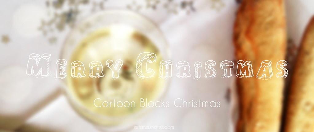cartoon blocks christmas