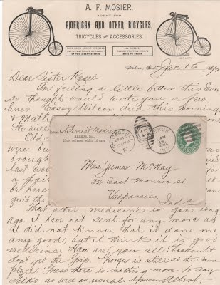 MOSIER, A. F. 1_15_1892 letter