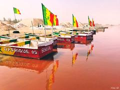 Lake Retba, Senegal.