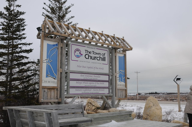 Town of Churchill sign