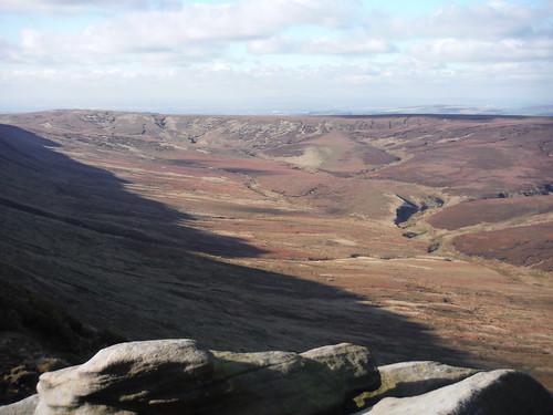Upper Ashop Clough (Pennine Way runs along ridge)