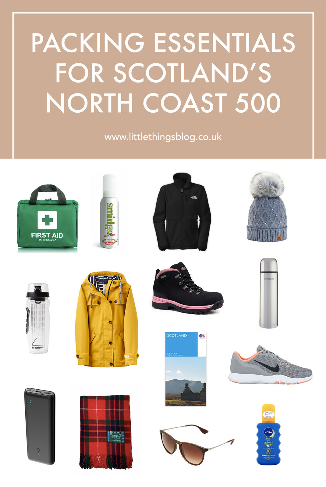 Scotland NC500 Packing Essentials travel blogger UK