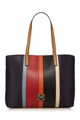 Principles by Ben de Lisi Navy stripe panel tote bag