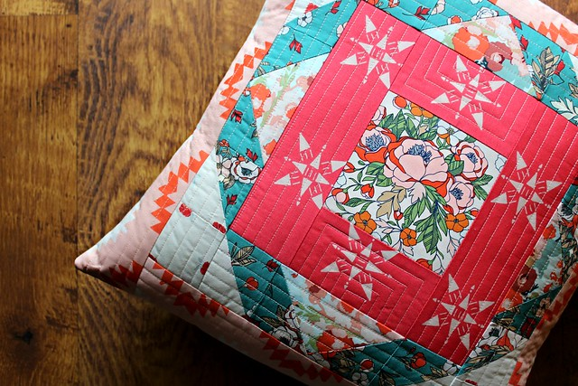 AGF Quilt Block Collection Tour Project -- A Love Story Moroccan Pillow
