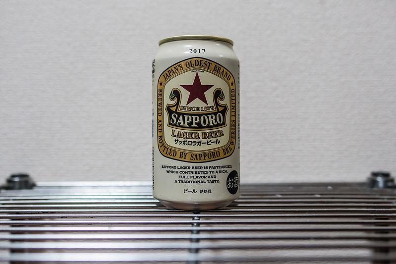 サッポロラガービールの缶