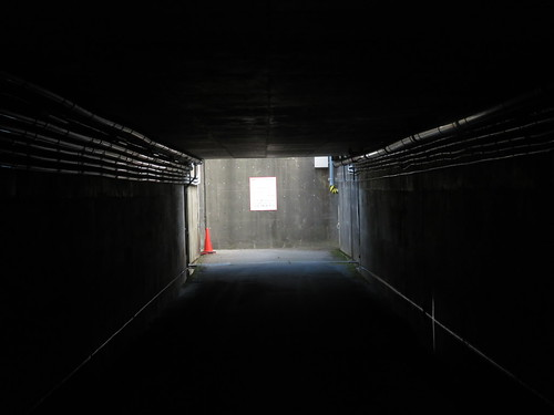 金沢競馬場の内馬場公園への通路