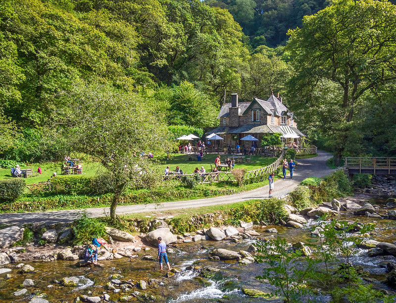 Watersmeet House near Lynmouth, Devon. Credit Bob Radlinski, flickr