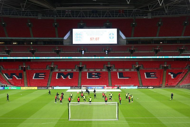 Treino oficial no Estádio de Wembley