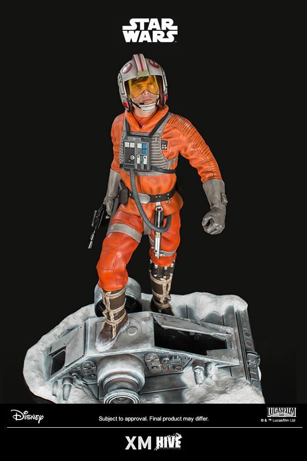 看我炸爆你這台AT-AT!!XM Studios Premium Collectibles 系列《星際大戰》路克·天行者 反抗軍飛行員裝版 Luke Skywalker in Rebel Pilot Suit 1/4 比例雕像作品