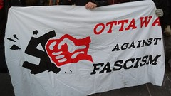 Ottawa against Fasism banner