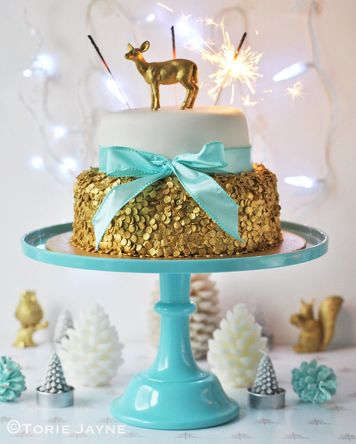 Sequin Christmas Cake 6