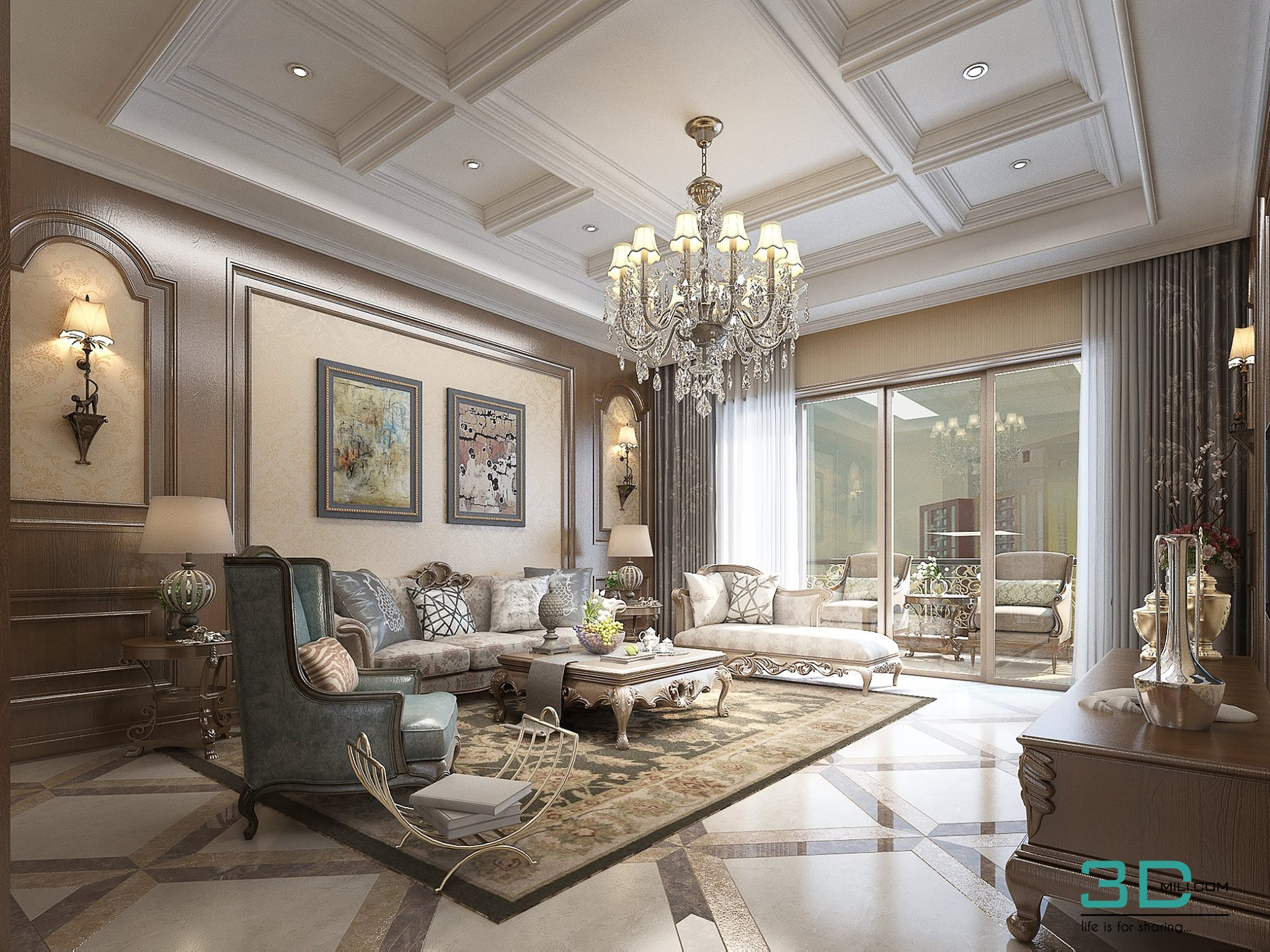30  Living Room 30 3dsmax File Free Download - 3D Mili