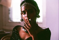 A Super-Rare Portrait of Author Arundhati Roy Smoking Wills Navy Cut... Long Before She Became Beautiful Enough to Write The God of Small Things... Photo by Carlo Buldrini