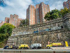 Henry Hudson Parkway at Castle Village Apartment Buildings, Washington Heights, New York City