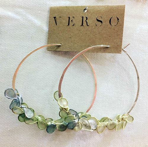 Cherry Blossom Hoop Paper Earrings by VERSO Jewelry