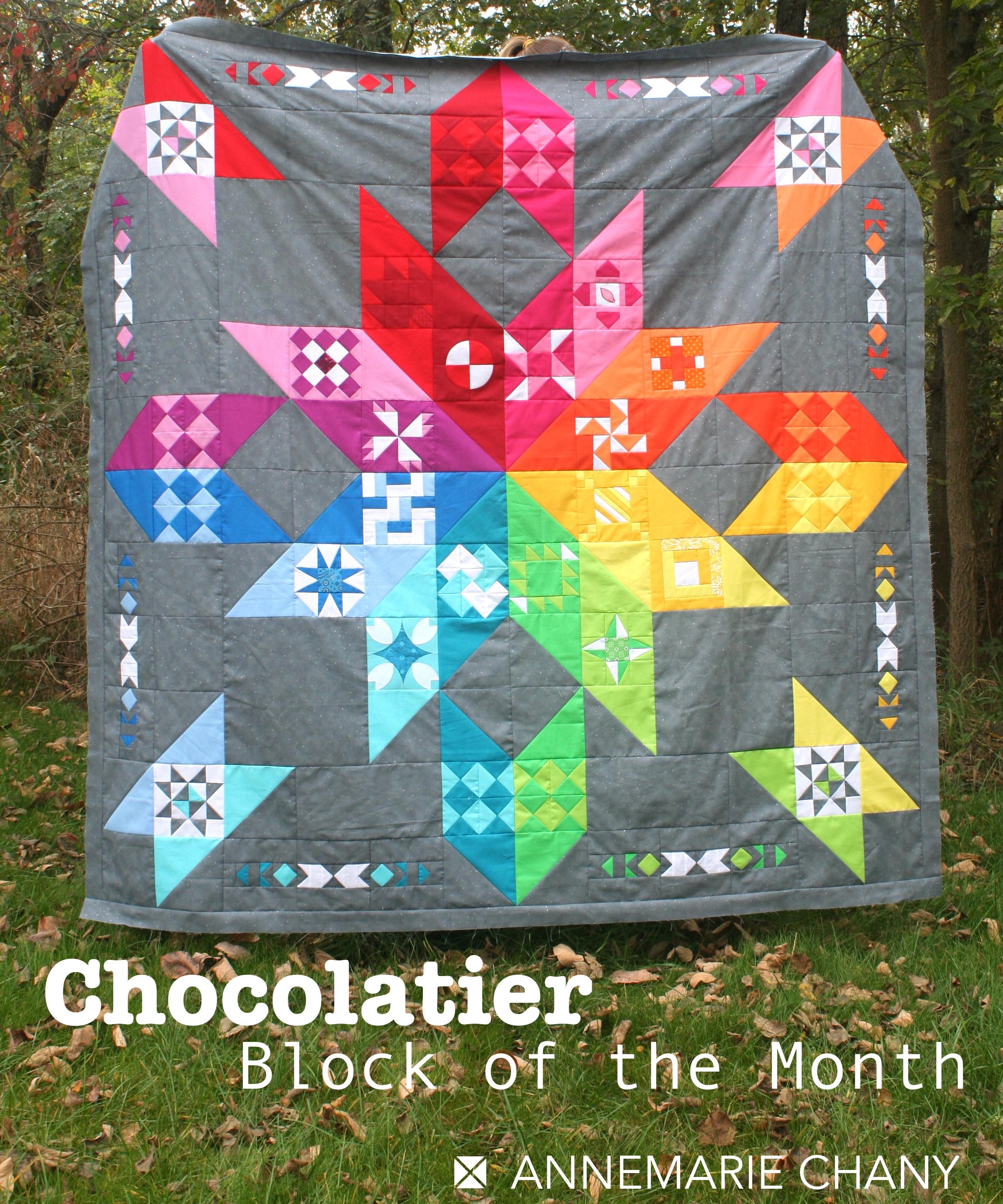 Chocolatier BOM Skittles Quilt Top