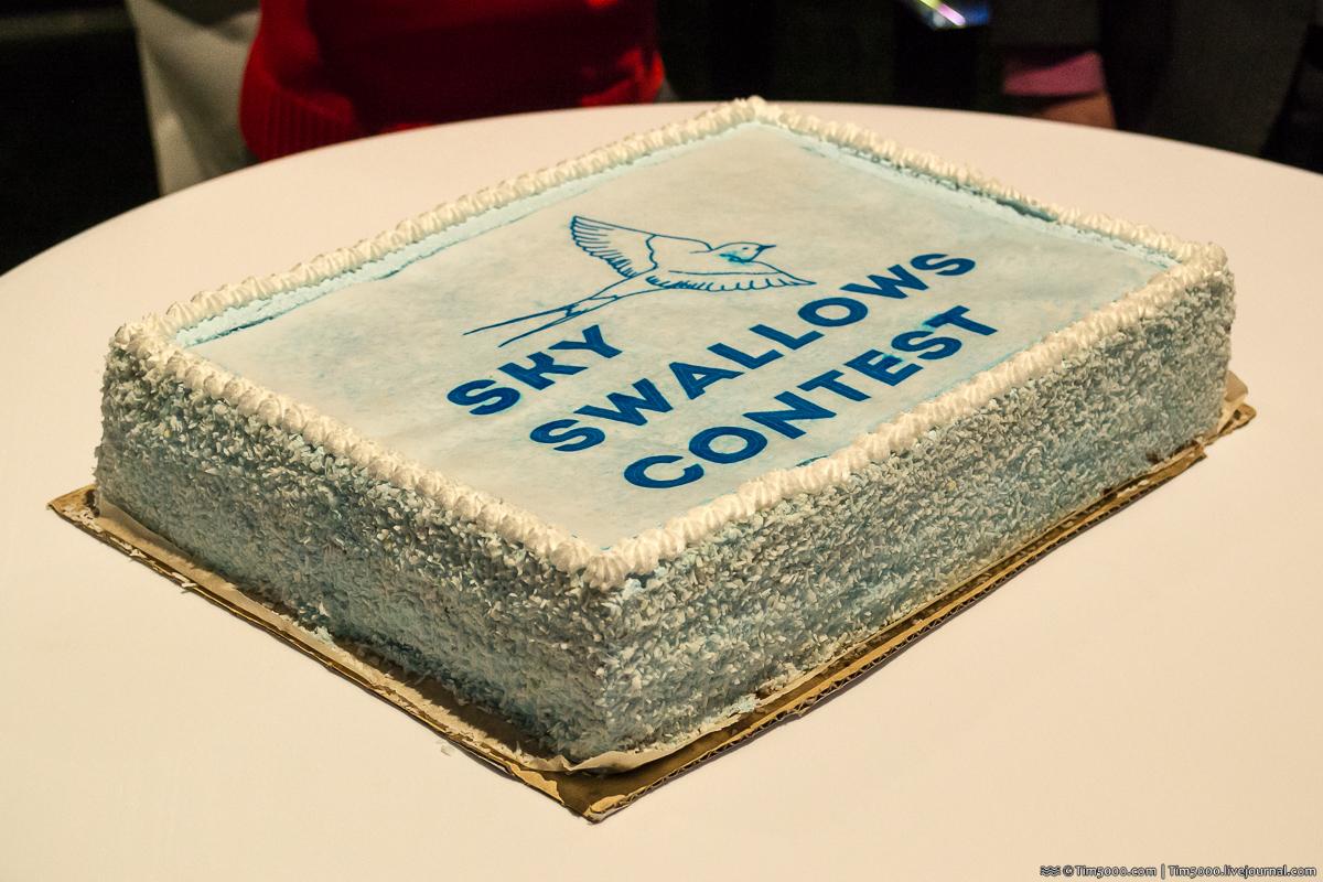 Праздничный торт в честь Sky Swallows Contest 2017