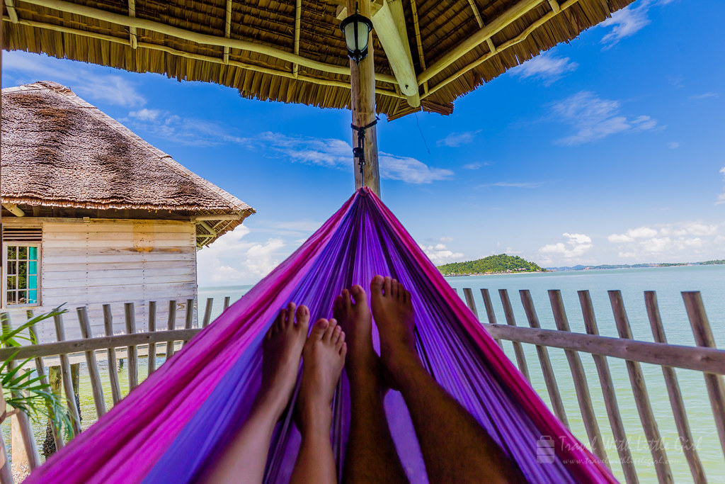 Our view on the Hammock, Telunas Beach Resort