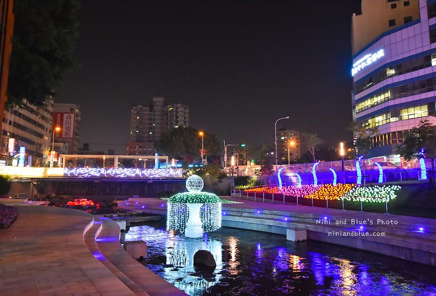 柳川藍帶水岸.聖誕節.台中景點15