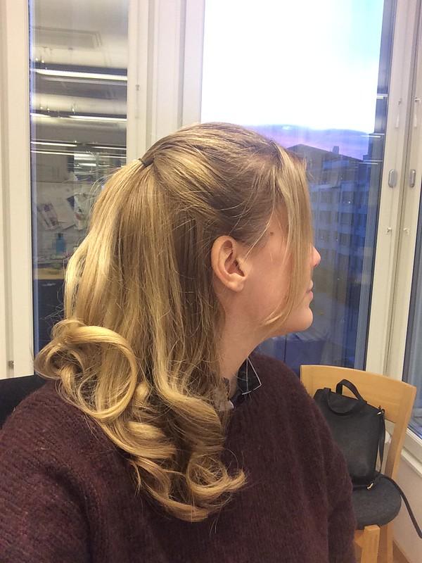 Lockat håret
