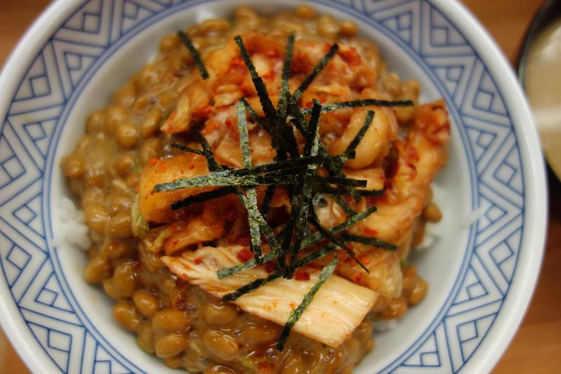 Nattou rice bowl @ Donburi-Tarou , Myogadani , Tokyo