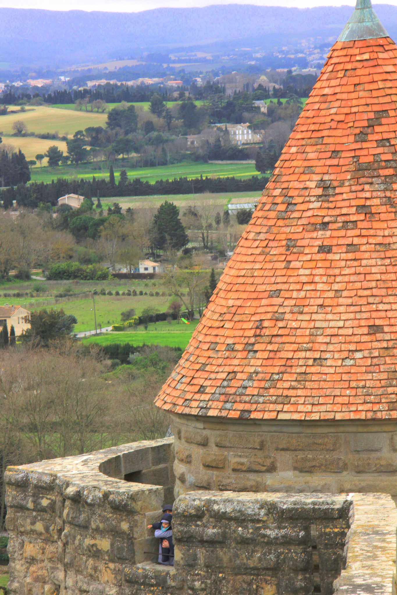 The views from the turrets of Carcassonne are breathtaking