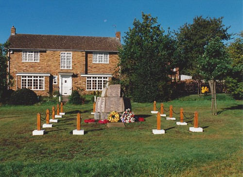 Croxley Green War Memorial on The Green. 1996