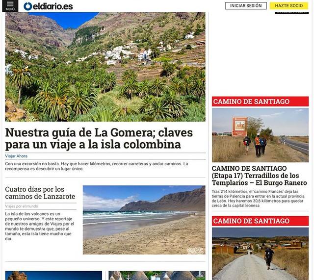 Seguimos aportando más info a Viajar Ahora, el suplemento de viajes de eldiario.es! Cómo mola ver tus artículos publicados aquí! ➡️ http://ift.tt/1Ls4hqA
