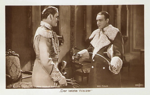 Hans Adalbert Schlettow and Willi Fritsch in Der letzte Walzer (1927)