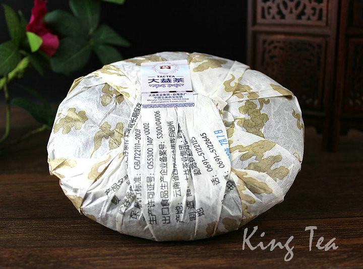 Free Shipping 2012 TAE TEA Dayi LongZhu Beeng Cake 357g China YunNan MengHai Chinese Puer Puerh Ripe Tea Cooked Shou Cha Premium