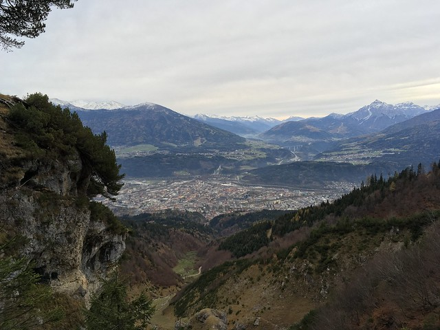 View on Innsbruck from the mountains